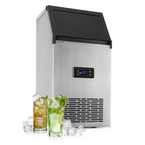 Glacial XL Professional Ice Cube Machine 38kg / d 15l LED Stainless Steel Black 15 Ltr