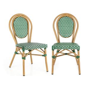 Montpellier GR Chair Stackable Aluminium Frame Green Green