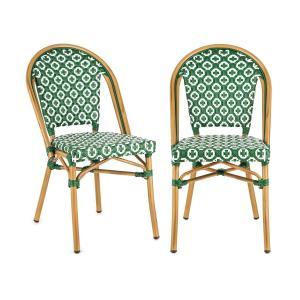 Montbazin GR Krzesło możliwość ułożenia jedno na drugim rama aluminiowa polirattan zielony Zielony