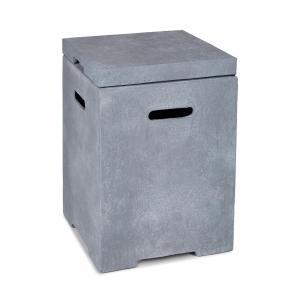 Gas Garage Aufbewahrungs-Box für Gasbehälter bis 8 kg hellgrau