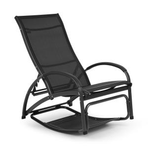 Beverly Wood Sonnenliege Schaukelstuhl Aluminium schwarz Schwarz