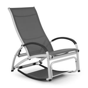 Beverly Wood ligstoel schommelstoel aluminium grijs Grijs