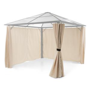 Pantheon Solid Sky Pavilion Side Panels 4 Pieces 140g / m² Polyester Beige Beige