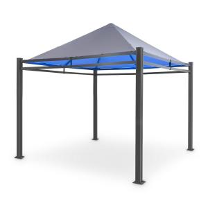 Pantheon Illumina Pavilion with Roof Polycarbonate Aluminium Black