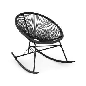 Roqueta Cadeira de Baloiço Retro-Design 4mm preto Preto