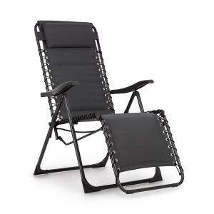 California Dreaming Sun Lounger, Upholstery, Steel Frame, Grey Grey