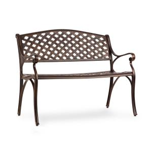 Pozzilli AN Garden Bench Die-Cast Aluminium Weather-Resistant Antique Copper Antic_copper