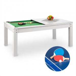 Liverpool 3-in-1 Game Table 7' Billiard Table Tennis Dining Table White White