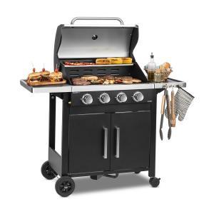 Tomahawk 4.0 T Barbecue à gaz 4 brûleurs 3,2 kW grille de cuisson 63cm 4 brûleurs