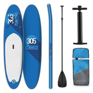 Spreestar tabla para surf de pala hinchable Set de tabla para SUP 305 x 10 x 77 Azul  Azul