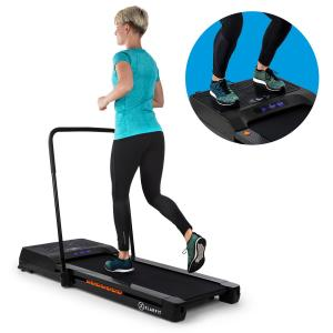 Workspace Fusion Tapis de course  1-12km/h & plaque vibrante Bluetooth - Noir