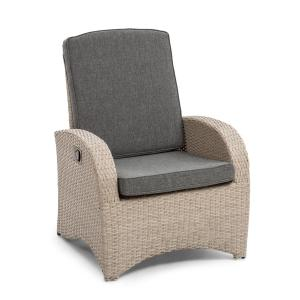 Comfort Siesta Chair Adjustable Backrest Light Grey Light grey