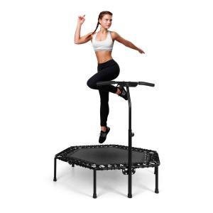 "Jumpanatic Pro fitnesstrampoline 50""/127 cm Ø handgreep zwart Zwart"