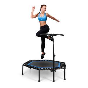"Jumpanatic Pro fitnesstrampoline 50""/127 cm Ø handgreep blauw Blauw"