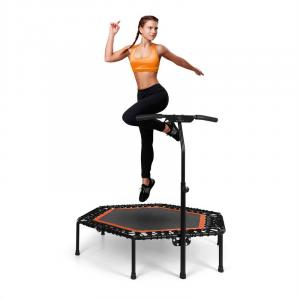 "Jumpanatic Pro Fitness-Trampolin 50"" / 127 cm Ø Griffstange orange Orange"
