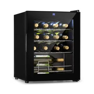 Shiraz Wine Refrigerator 42l Touch Panel 131W 5-18 ° C Black