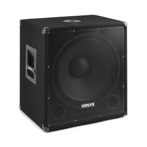 "SMWBA18 Active 18"" PA Subwoofer 1000 W Max BT MP3 Flange Connector 1000 W"