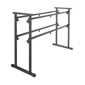 DB1, przenośny stojak didżejski, metal, 50 kg maks., kolor czarny