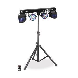 Partybar 2 Sistema completo de iluminación 100 W RVBN DMX /independiente negro