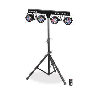Partybar 3 complete lichtinstallatie 85W RGB DMX/Stand alone statief zwart