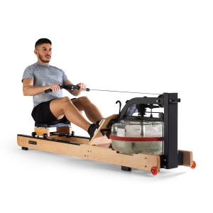 Stoksman 2.0 Water Rowing Machine 120cm LCD Display Light Beech Light beech