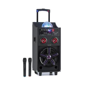 DisGo Box 100 Mobile PA System 50W RMS BT SD Slot LEDs USB Battery Black