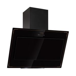 DeLorean 90 Cooker Extractor Hood 625 m³ / h Touch-Panel Retro Black 90 cm