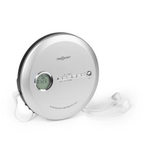 CDC 100 BT kannettava CD-soitin bluetooth-toiminto LCD ASP 2 x 1,5 V hopeanvärinen hopea