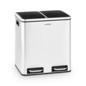 Trash Gordon Pedal Bin 30L / 2x15L Noiseless PP Brushed Stainless Steel Brushed stainless steel