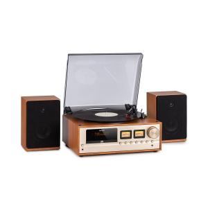 Oxford Retro-Stereoanlage DAB+/FM BT-Funktion Vinyl CD AUX-In Champagner Champagner