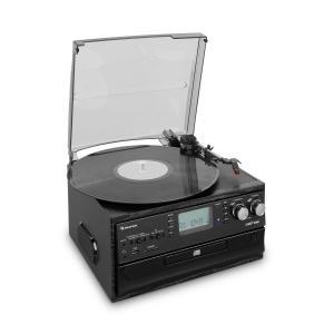 Oakland, system retro-stereo, FM, funkcja BT, winyl, CD, odtwarzacz kasetowy, MP3 With_FM_radio