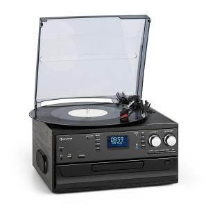 Oakland DAB Zestaw stereo w stylu retro DAB+/FM funkcja Bluetooth płyty winylowe CD kasety With_DAB_plus_and_FM_radio