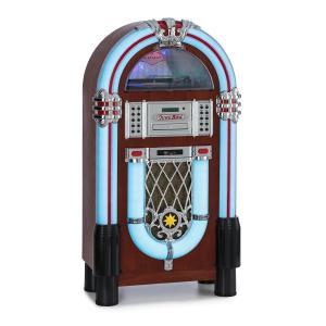 Graceland DAB, szafa grająca, BT, CD, winyl, DAB + / FM, USB, SD, wejście AUX, światło LED
