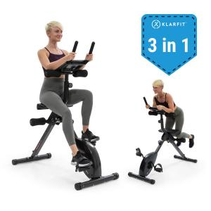 Fusion Bike Fahrrad-Heimtrainer 3in1 Cardio-/Standing Bike AB Trainer
