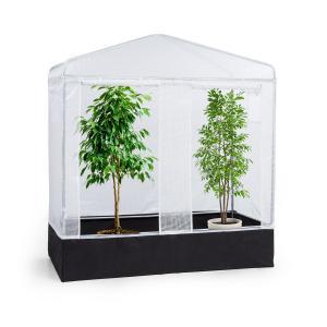 Plant Palace X2 vivero 200 x 220 x 100 cm acero tubular lámina reticulada de PVC  200 cm