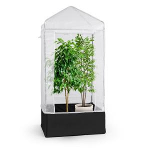 Plant Palace X1 vivero 100 x 220 x 100 cm acero tubular lámina reticulada de PVC  100 cm