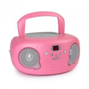 Pink Bonbon CD Boombox CD Player Bluetooth FM AUX-IN LED Display Pink Pink