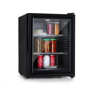 Brooklyn 42 koelkast EEC A glasdeur zwarte binnenkant zwart Zwart | 42 Ltr