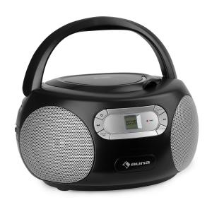 Haddaway CD minicadena reproductor de CD Bluetooth UKW AUX-IN pantalla LED negro Negro