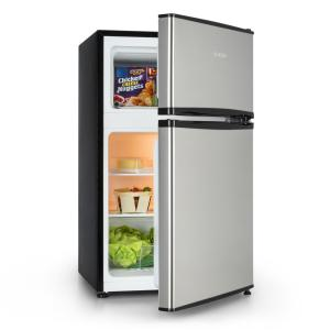 Big Daddy Cool Fridge-Freezer Combination 65/25 Litre Stainless Steel A+ silver Silver | 90 Ltr