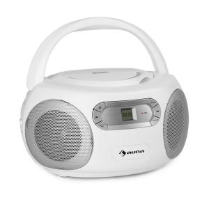 Haddaway CD Boombox CD-Player Bluetooth UKW AUX-IN LED-Display weiß Weiß