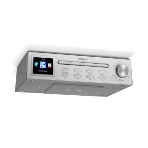 "Streamo Chef Kitchen Radio CD Player BT 2.4"" HCC Display Silver Silver"