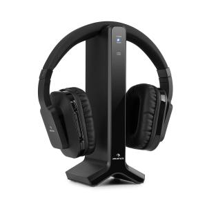 Silencium auriculares inalámbricos 20 m 2,4 GHz TV/HiFi/CD/MP3 negro