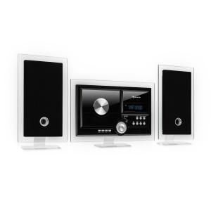 Stereo Sonic DAB + Stereo System, DAB +, CD Player, USB, BT, Black Black