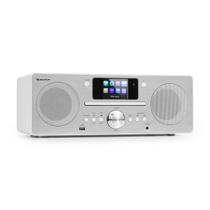 Harvard Compact System Internet / DAB + and FM Radio CD Player Bluetooth White White