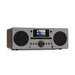 Harvard Compact System Internet / DAB + and FM Radio CD Player Bluetooth Walnut Walnut