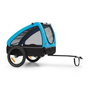 Husky Bicycle Dog Trailer Approx. 250L 600D Oxford Canvas Blue Blue