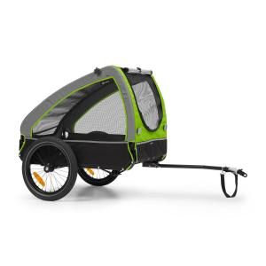 Husky Bicycle Dog Trailer approx. 250L 600D Oxford Canvas Green Green