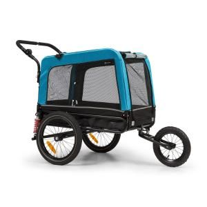 Husky Vario 2-in-1 Dog Trailer Dog Buggy Approx. 240L 600D Oxford Blue Blue