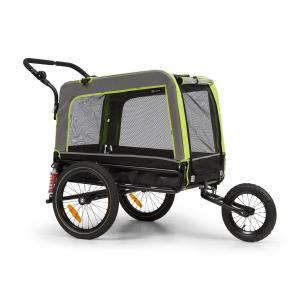 Husky Vario 2 en 1 remolque de bicicleta para perros y carrito 240 l aprox. lona 600D Oxford verde  Verde
